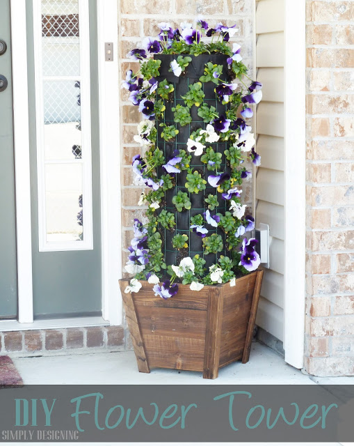 DIY Patio Flower Tower Planter