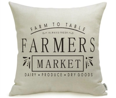 Farmhouse Pillow Covers with Farmers Market Quotes