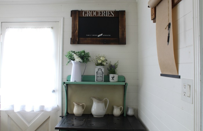 Farmhouse kitchen pallet wood frame chalkboard by Knick of Time