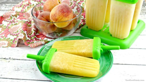 Frozen Peach Bellini Ice Pops Recipe