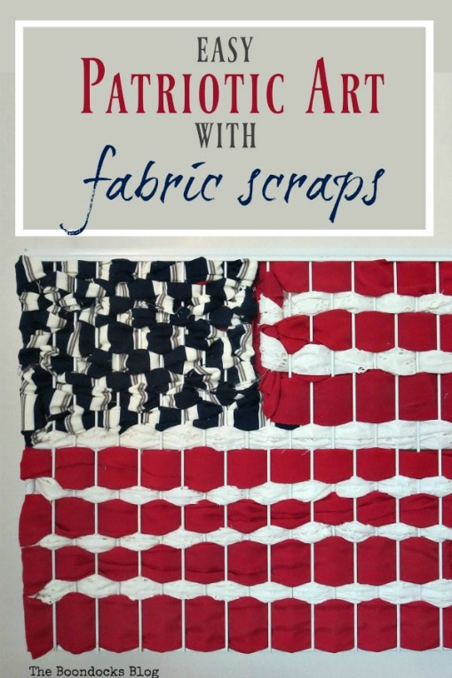 How to make Easy Patriotic Art with Fabric Scraps