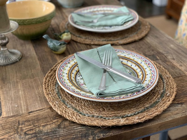 Make Farmhouse Inspired Rustic Rope Placemats