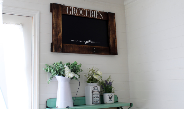 Pallet Frame Farmhouse Groceries Chalkboard Sign by Knick of Time