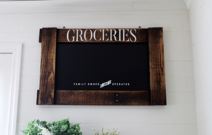 Pallet Frame Farmhouse Chalkboard by Knick of Time