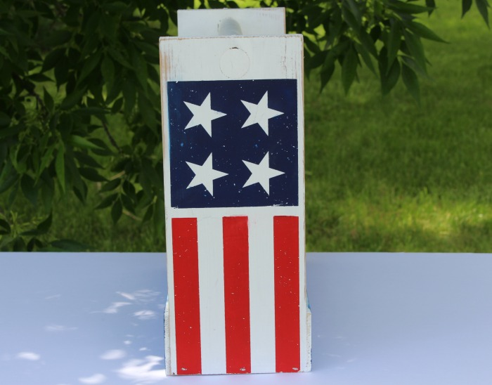 Patriotic BBQ Wooden Tote by Knick of Time