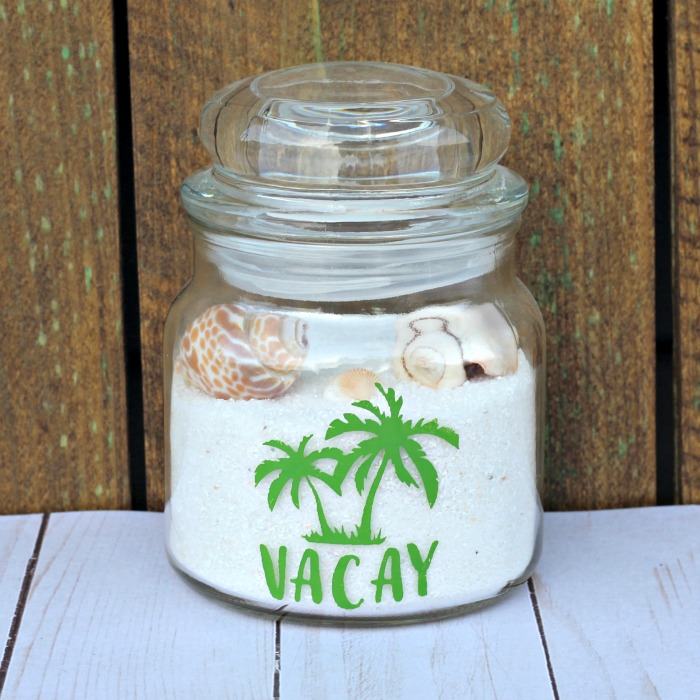 Beach Vacation Travel Memory Jar by Knick of Time