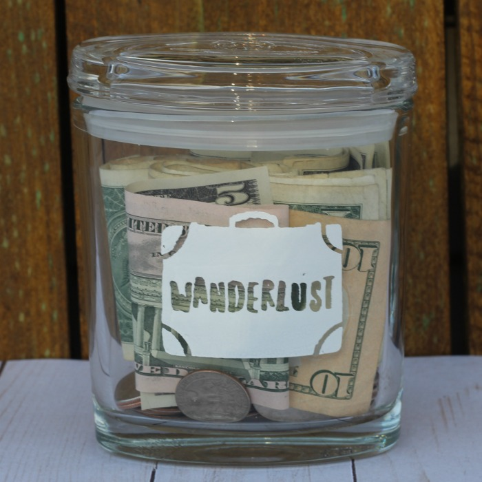 Wanderlust Vacation Savings Jar by Knick of Time