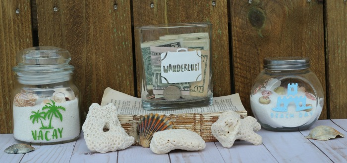 Vacation Travel Repurposed Jars by Knick of Time