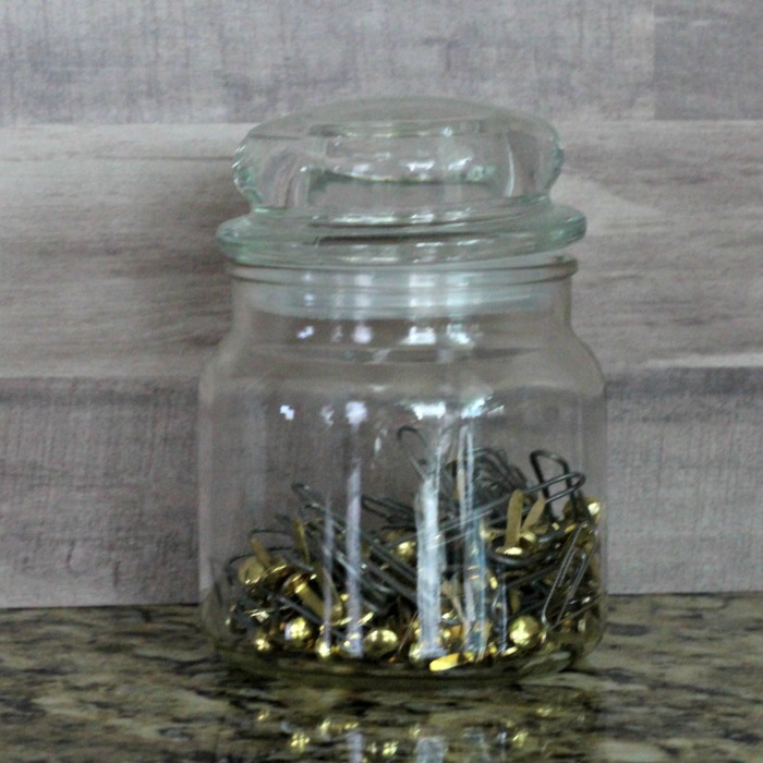 Paper clip jar to be used for a beach vacation memories jar by Knick of Time