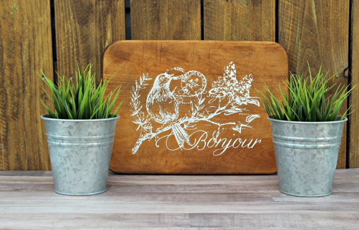 Bonjour French theme cutting board home decor by Knick of Time