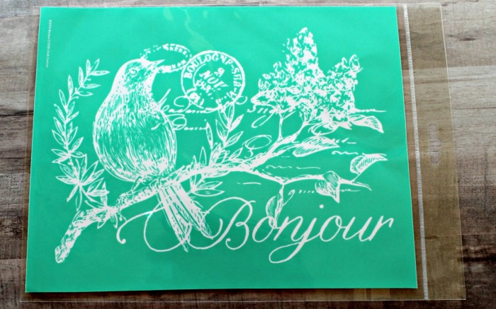 Chalk Couture Bonjour French transfer stencil