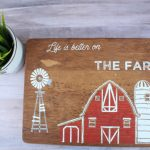 Cutting Board Lazy Susan Makeover by Knick of Time