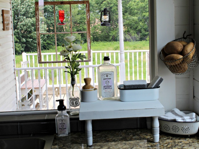 Rustic Farmhouse Kitchen Counter Wood Riser by Knick of Time