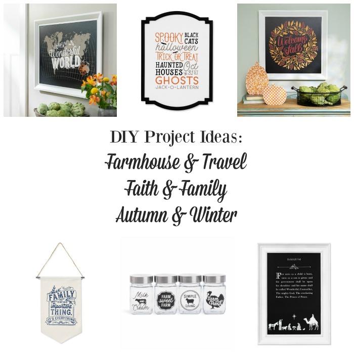 DIY Ideas: Farmhouse, Travel, Faith, Family, Autumn & Winter from Knick of Time