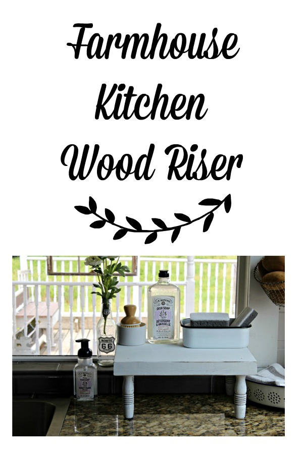 DIY Rustic Farmhouse Style Kitchen Counter Wood Riser by Knick of Time