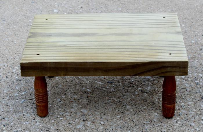 DIY Wood Riser