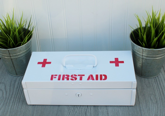 First Aid Kit Toolbox Makeover for Home or Travel by Knick of Time