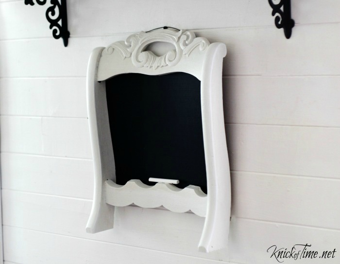 Repurposed Chair Back Chalkboard by Knick of Time