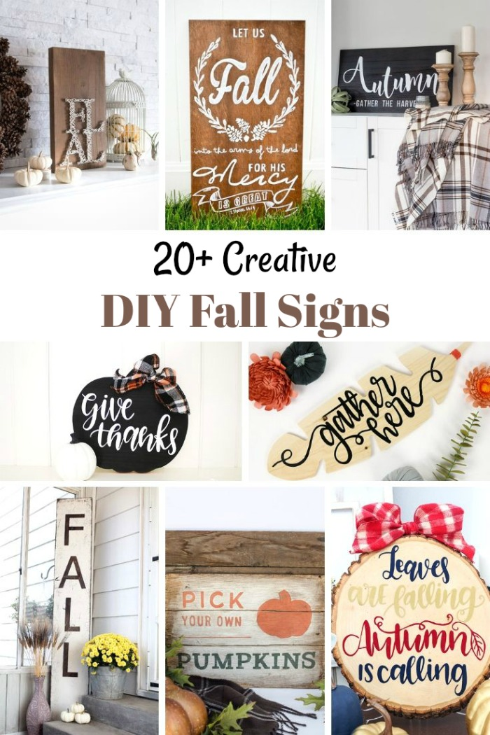 20+ Creative DIY Fall Signs