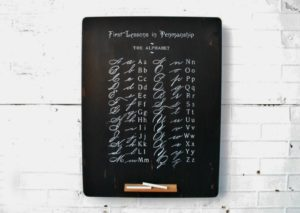 Antique School Primer DIY Alphabet Chalkboard by Knick of Time