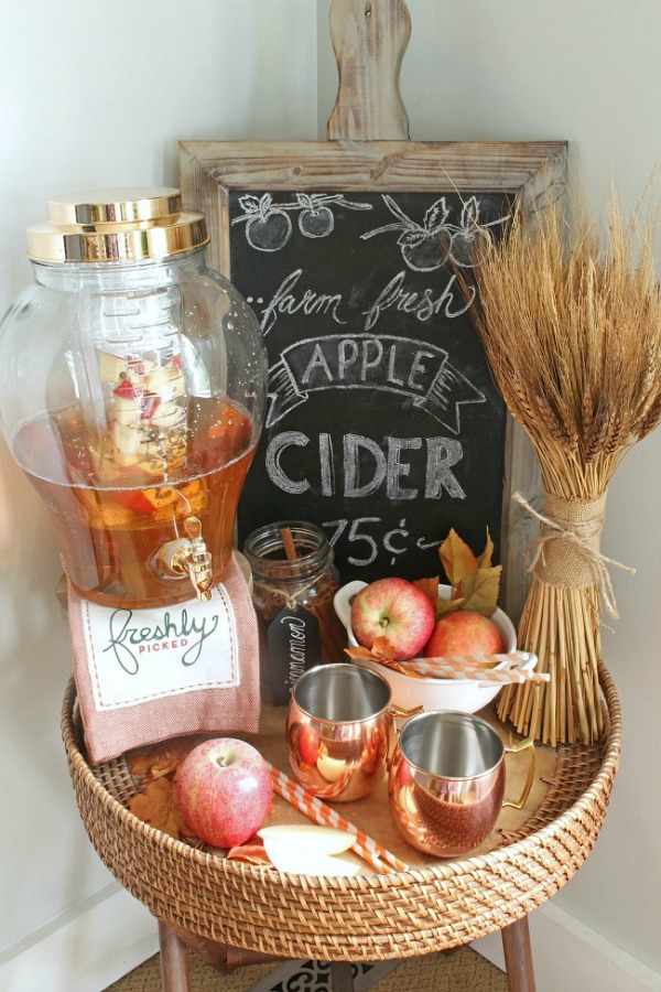 Apple Cider Farmhouse Fall Tray