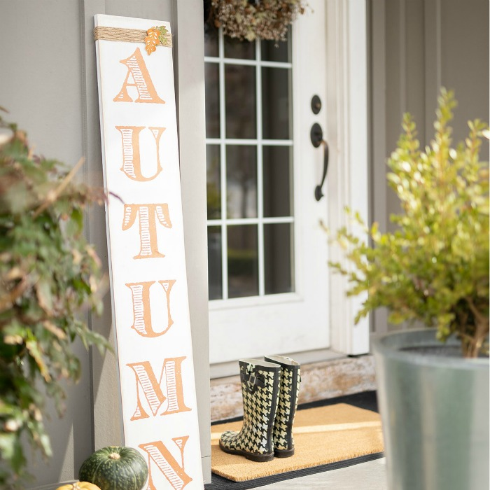 DIY Autumn Porch Sign