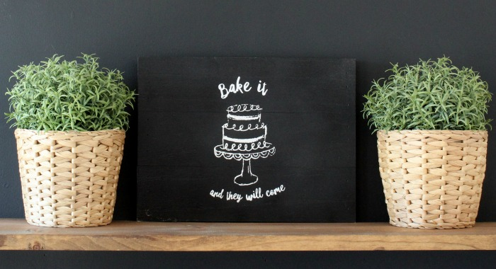 Chalk Couture Bake It and They Will Come Black DIY Kitchen Trivet