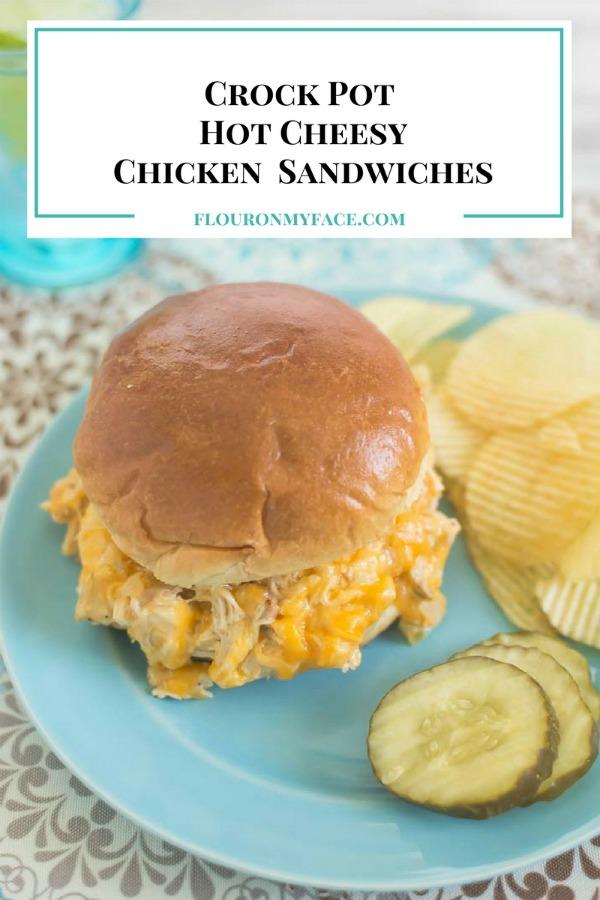 Crock Pot Hot Cheesy Chicken Sandwiches