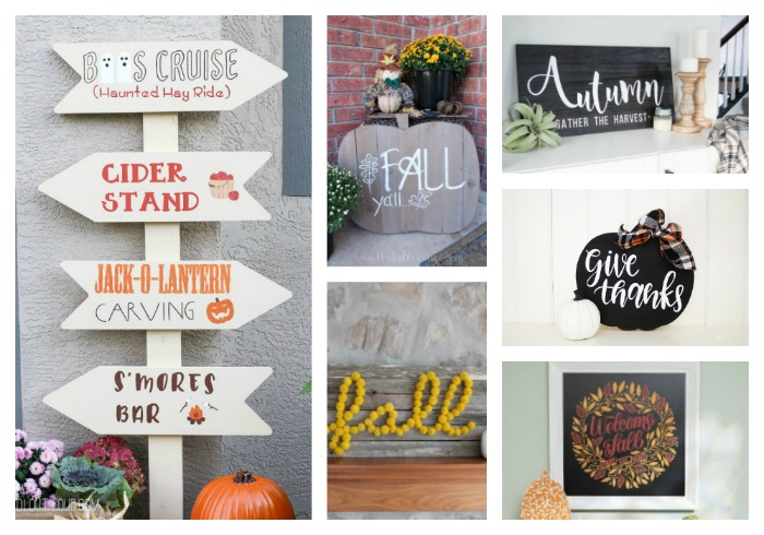 20+ Creative DIY Wood Fall Signs
