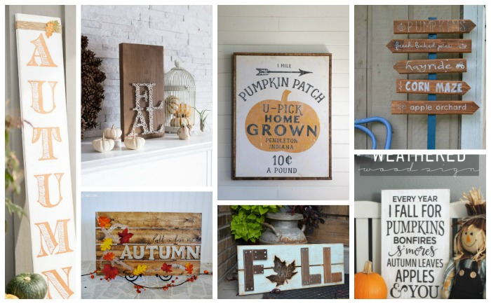 DIY Rustic Fall Signs