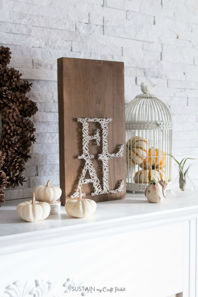 EASY DIY FALL STRING ART