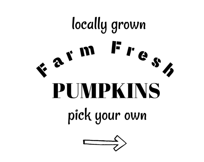 Farm Fresh Pumpkins Sign Printable