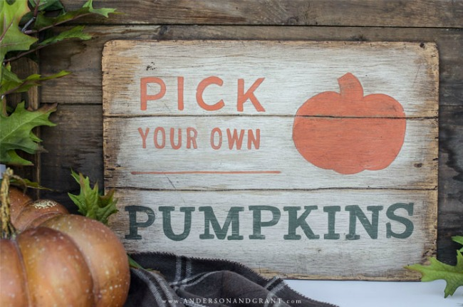 PICK YOUR OWN PUMPKINS DIY FALL SIGN