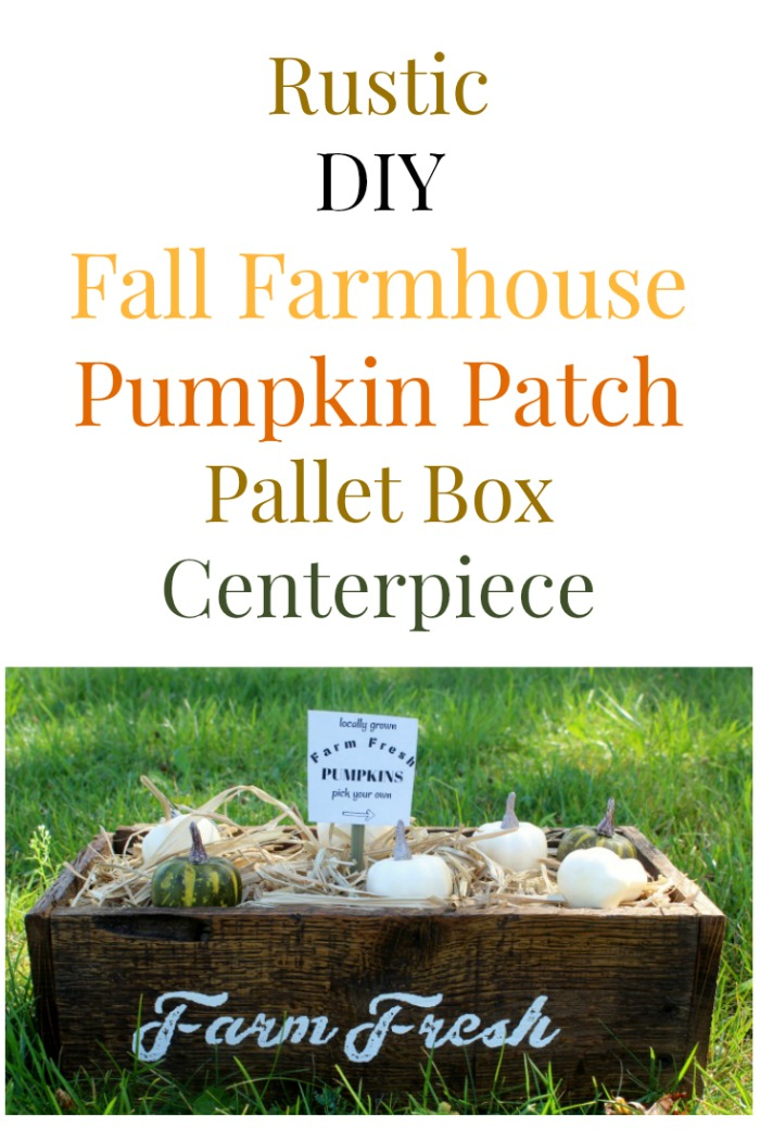 Rustic DIY Fall Farmhouse Pumpkin Patch Pallet Box Centerpiece