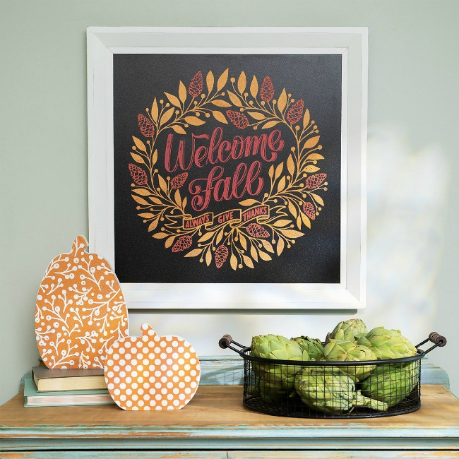 Welcome Fall Flora Wall Decor Sign