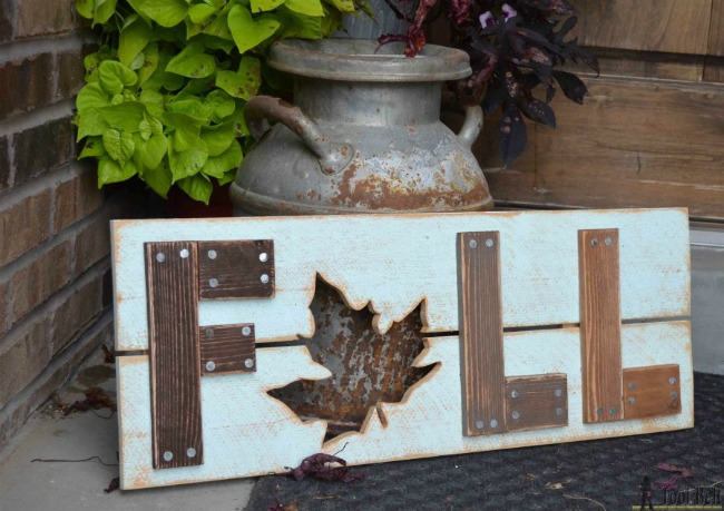 Leaf Wooden Fall Sign