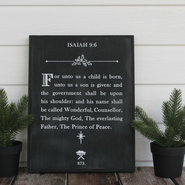Prince of Peace Box frame Christmas sign
