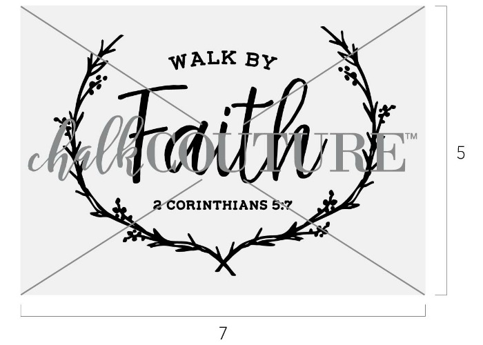 Chalk Couture Walk by Faith transfer