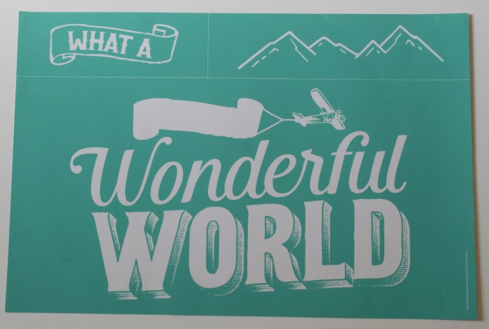 Chalk Couture What a Wonderful World adhesive stencil