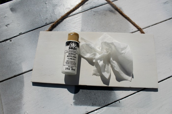 Painting with a baby wipe is so easy and dries quickly. The best part is NO cleaning paint brushes!