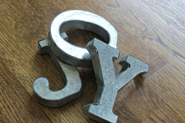Metal joy letters