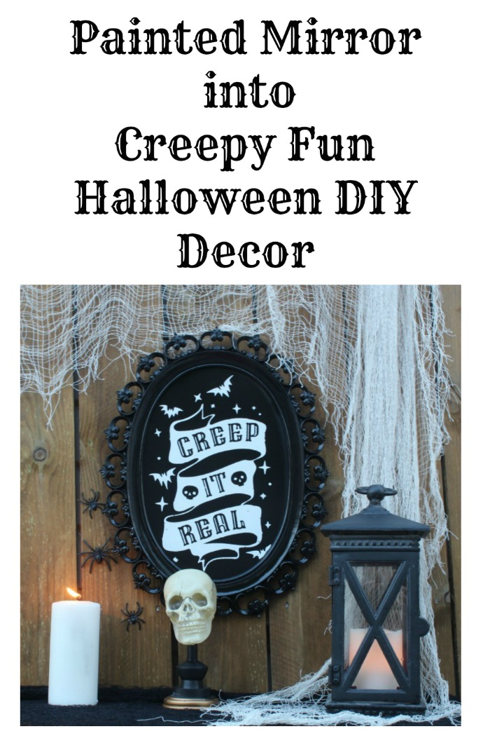 Painted Mirror into Creepy Fun Halloween DIY Decor!