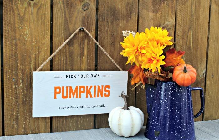 Pumpkin Patch Fall Pallet Sign