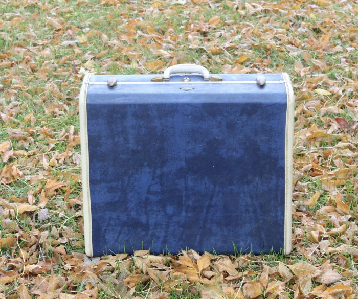 Vintage Blue Samsonite Suitcase