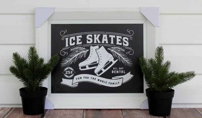 Chalk Couture Ice Skate Rental DIY Chalkboard Sign