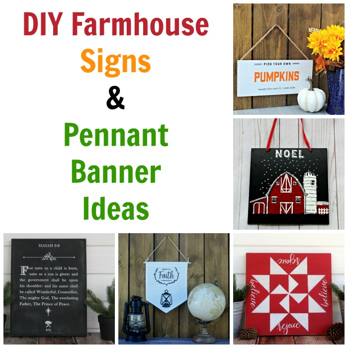 DIY Farmhouse Signs and Pennant Banner Project Ideas