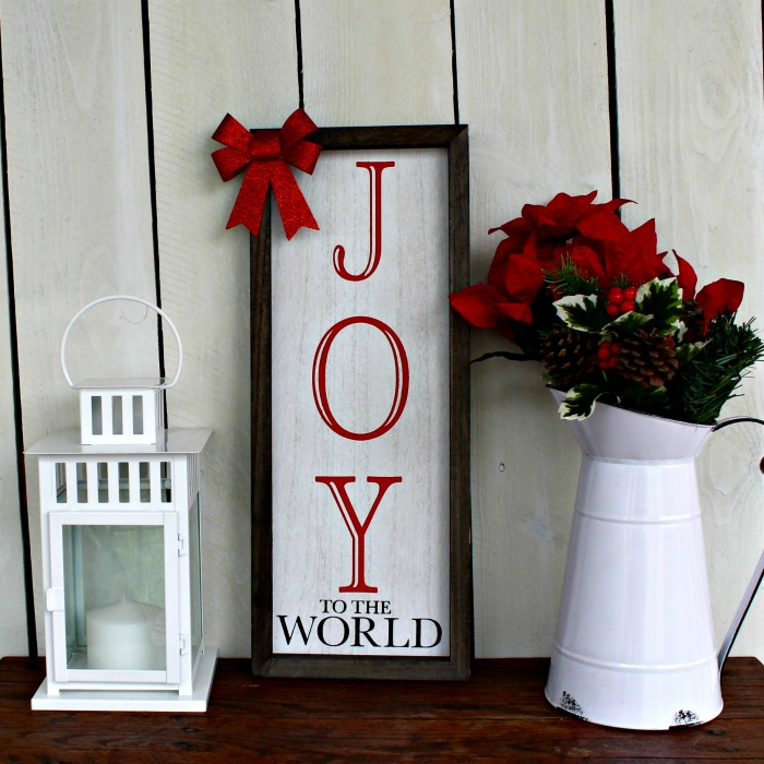 Chalk Couture Joy to the World box frame sign