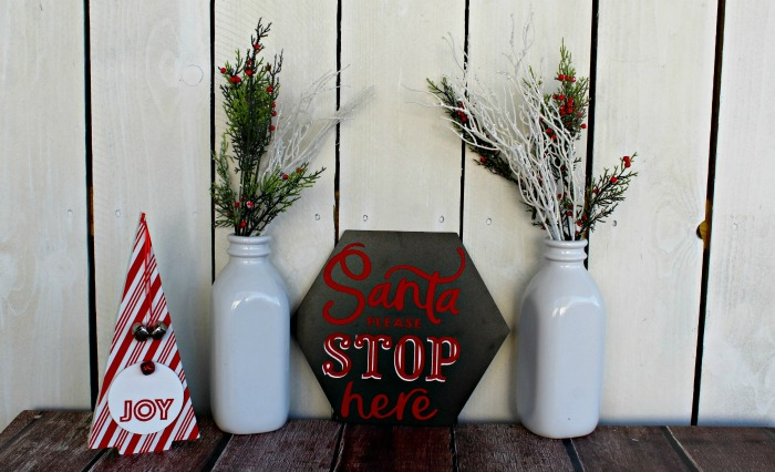 Chalk Couture Santa Stop Here Sign
