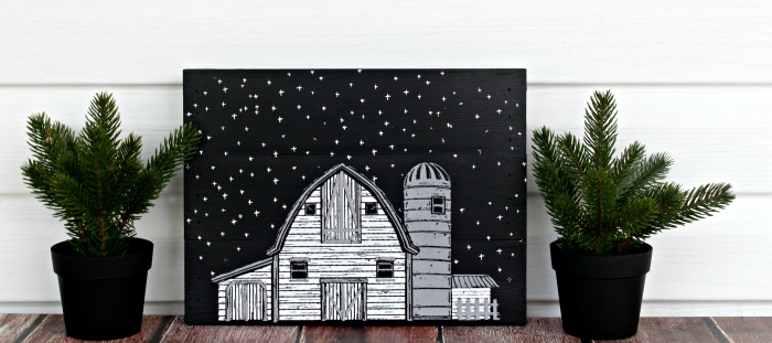 Chalk Couture Life on the Farm Monochromatic Pallet Sign by Knick of Time