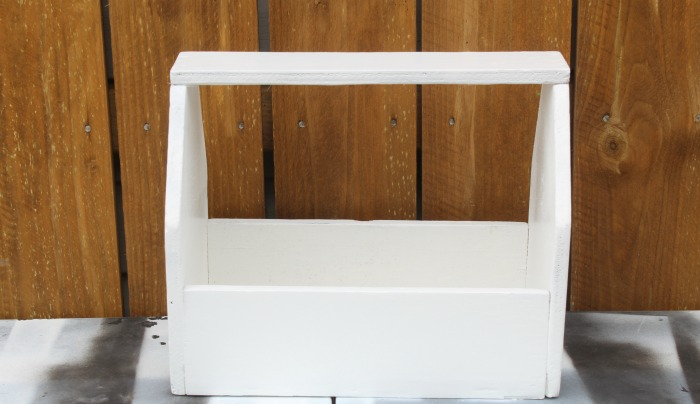 white painted tote